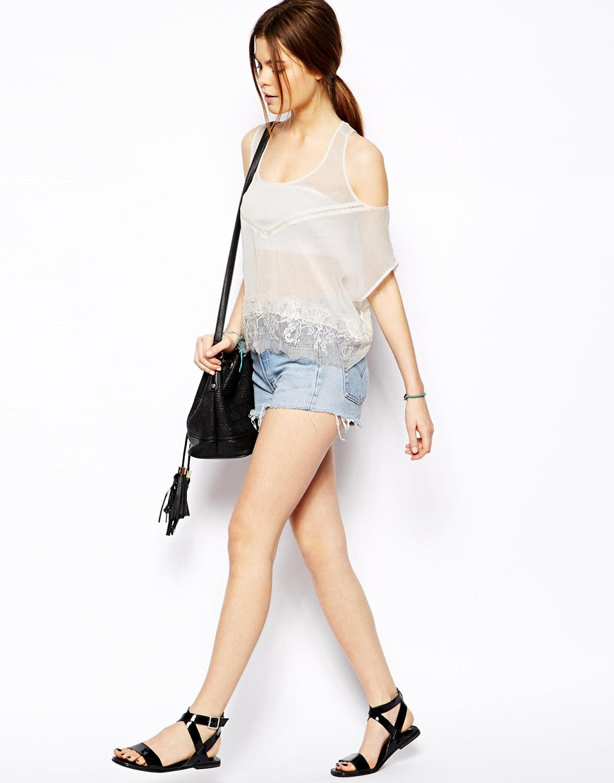 Cold Shoulder Lace Vest Thumbnail