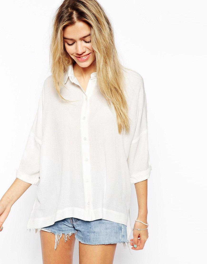 Crinkle Oversize Blouse