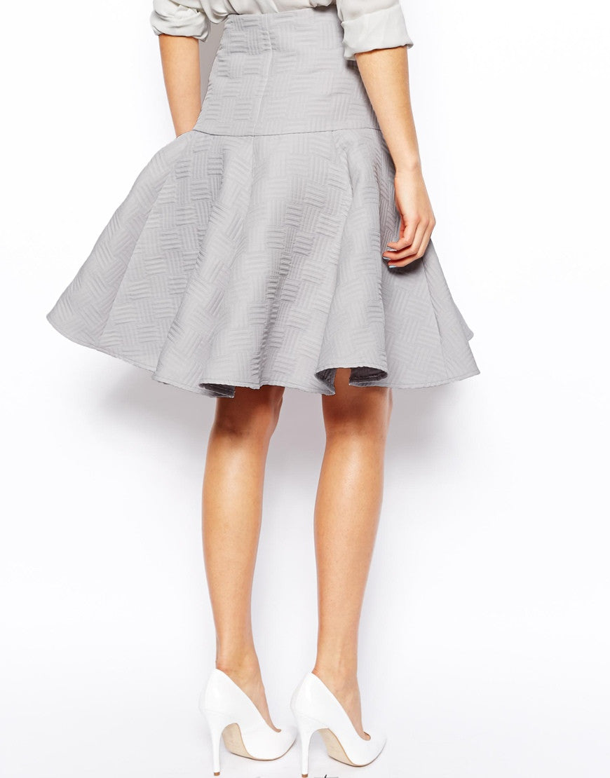 Midi Skirt Full Pleated Peplum Thumbnail