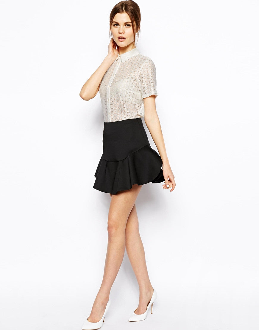 Mini Skirt in Flippy Scuba