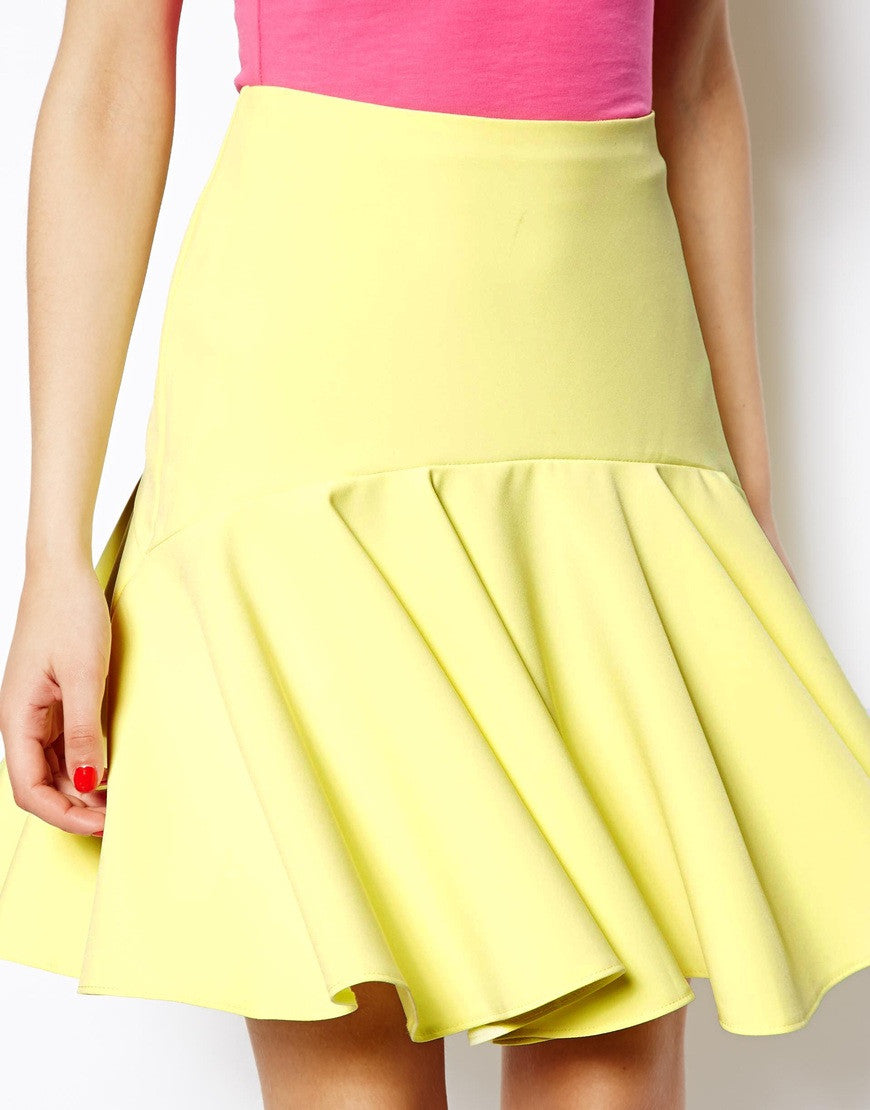 Skirt with Drop Peplum Hem Thumbnail