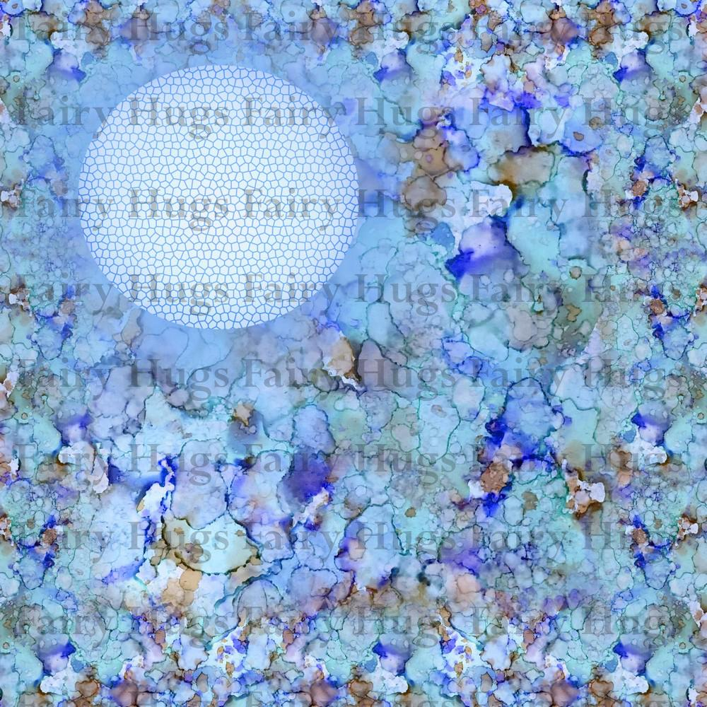 "Fairy Hugs - Backgrounds - 6"" x 6"" - Blue Lagoon - Fairy Stamper"