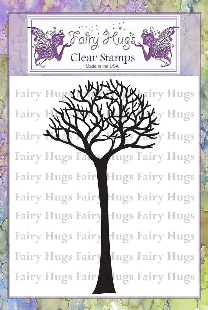 Fairy Hugs Stamps - Skinny Bare Tree (Tall)