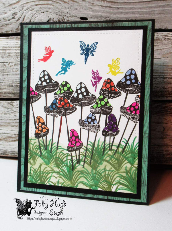 Fairy Hugs Stamps - Dotted Mushrooms