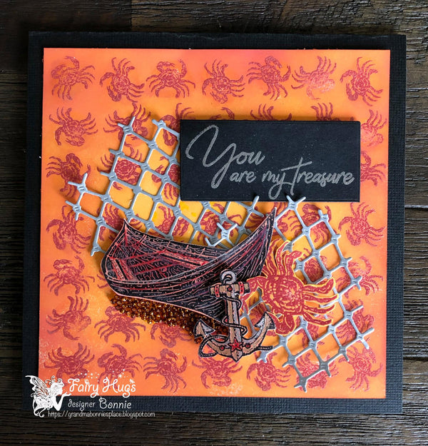 Fairy Hugs Stamps - Row Boat