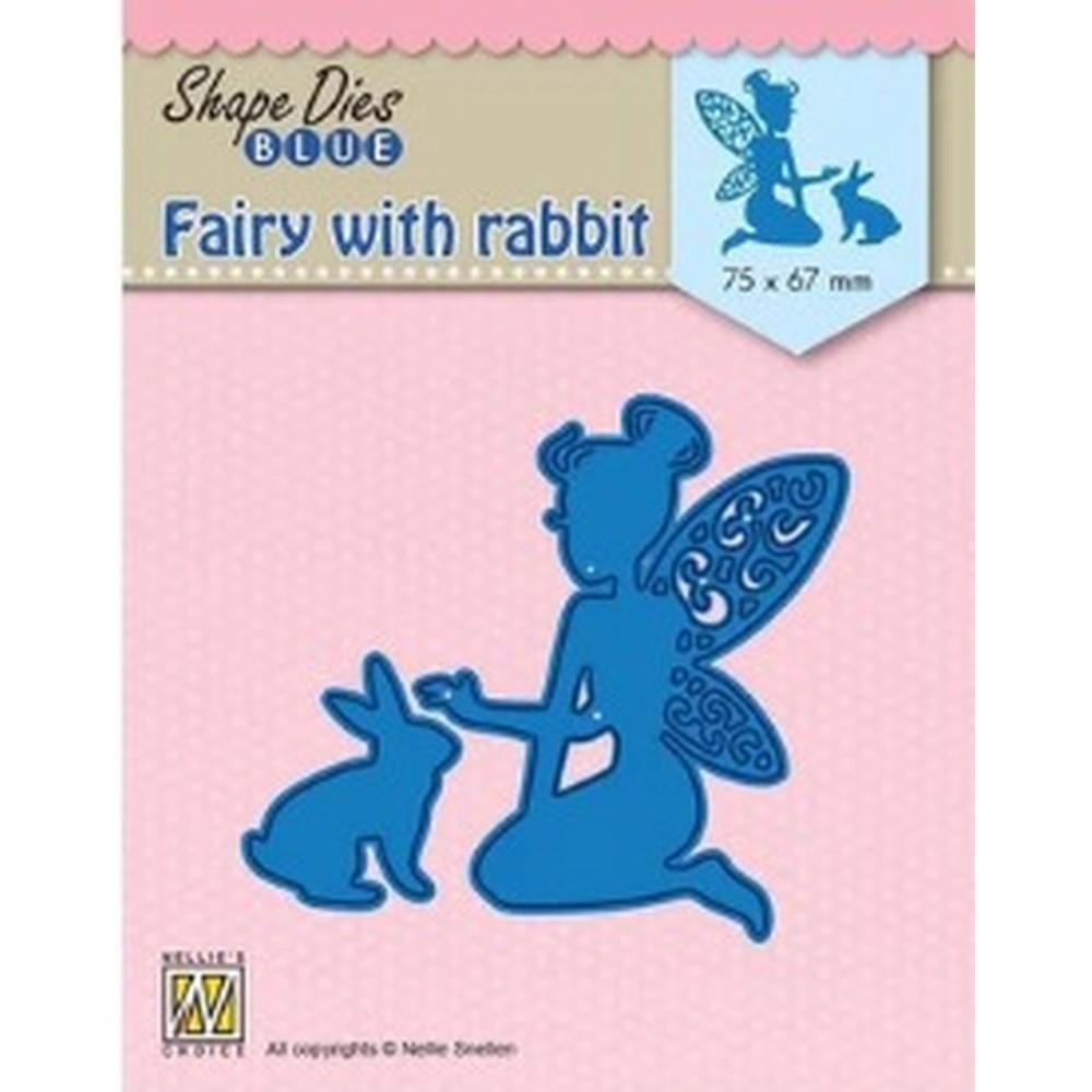 Nellie's Choice - Die - Blue Fairy With Rabbit - Lavinia World