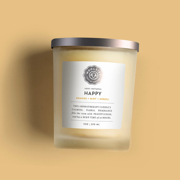 Woolzies Happy Candle