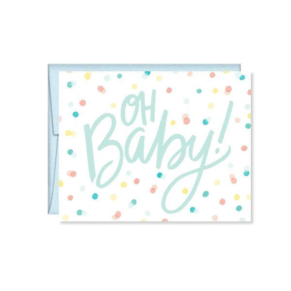 Oh Baby! Baby Girl, Baby Boy, Baby Shower Card