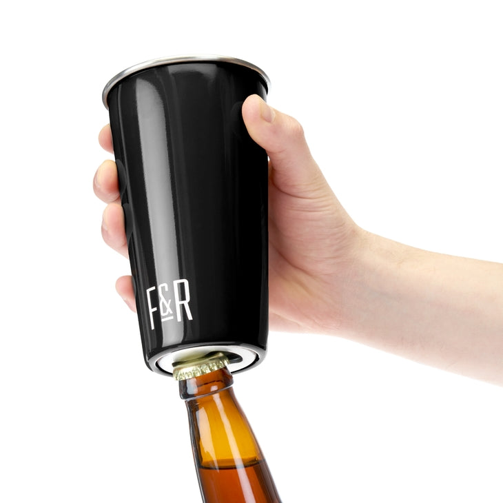 Foster & Rye Bottle Opening Pint Cup - Black