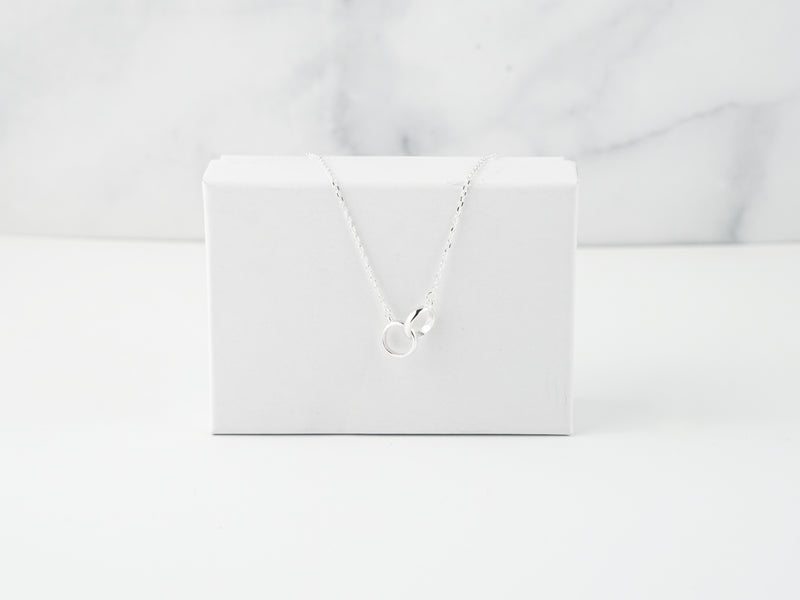 Interlock Necklace - Silver