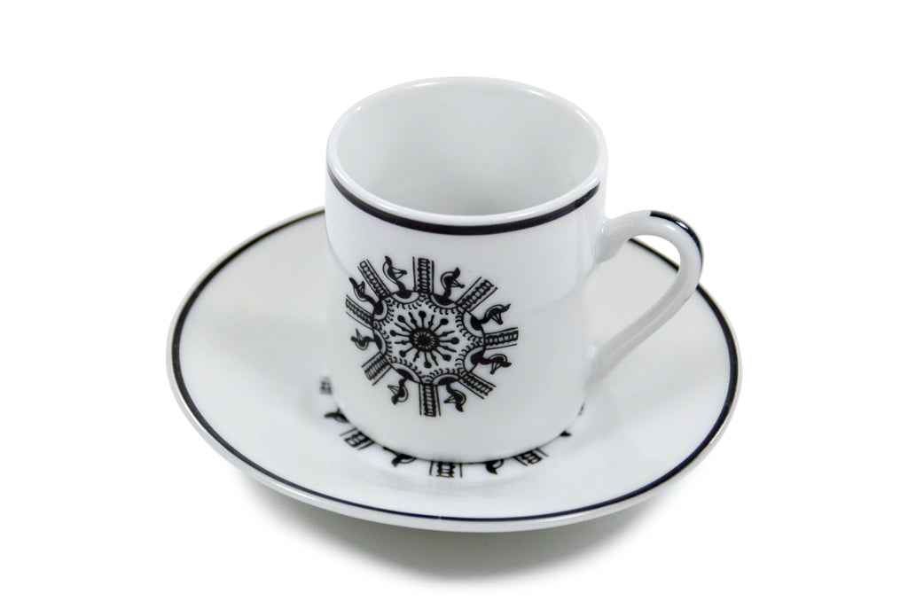 Set of 6 Espresso Cups and Saucers - Oh La Vache Boutique!