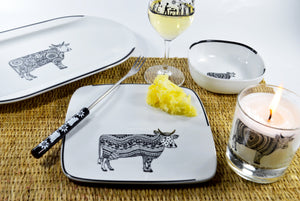 Set of 2 Big Serving Plates - Oh La Vache Boutique!