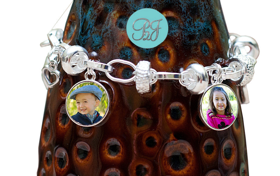 Photo Jewelry Charm Bracelet / Mothers Day Gift  Sterling Silver Photo Charm Bracelet With 3 Photo Charms Mothers Gift, Personalized Gift