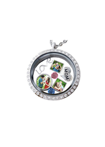 Small Floating Photo Charm for Glass Locket