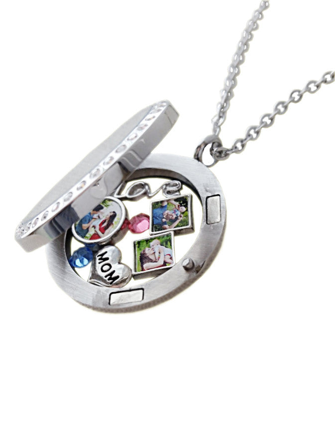 Grandma Floating Charms / Locket Grandma Charm / Photo Charms Magnetic Locket Necklace /Grandma Gift /Mom Gift Pics2Jewels /Mothers Day Gift