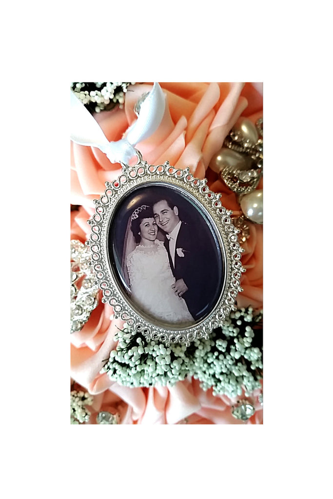 Victorian Wedding Bridal Bouquet Memorial Photo Charm