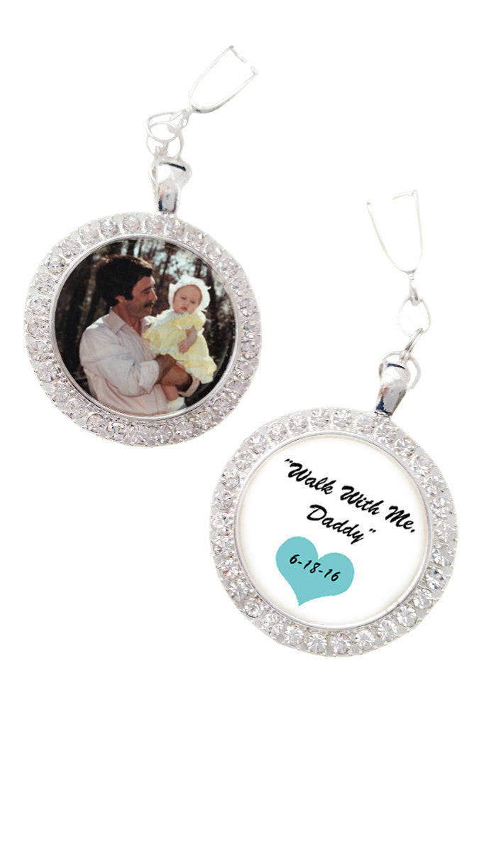 Wedding Shoe Memorial Photo Charms Set of 2 Add Engraving
