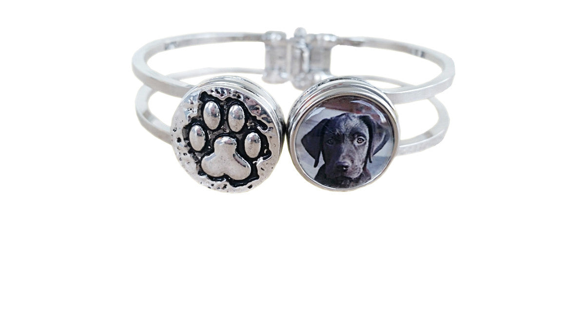 Personalized Pet Memorial Jewelry/Dog Lover Gift /Pet Jewelry /Dog Loss Pet Bracelet /Unique Gifts For Dog Lover / Snap Jewelry/Photo Charm