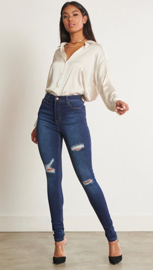 High Rise Vibernt Jeans