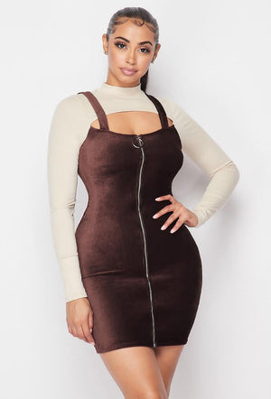 O-ring Zip Up Dress
