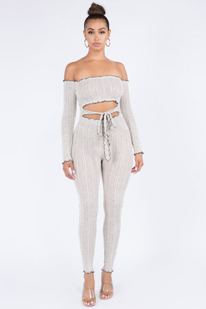Oatmeal Jumpsuit