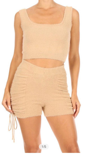 Crop Top And Shorts Set