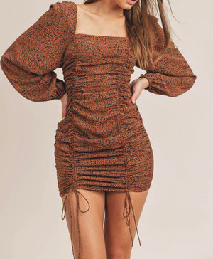 Dizzy Leopard Drawstring Dress
