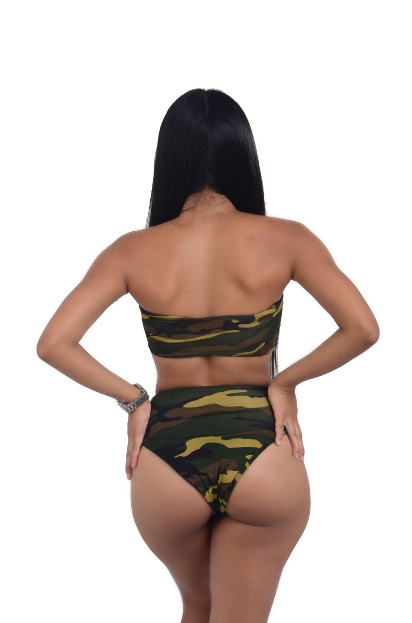 Military Print Swimsuit