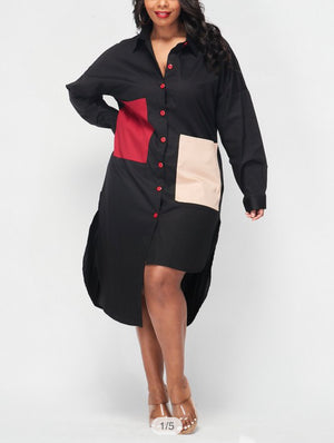 Buttoned Up Plus Size Dress
