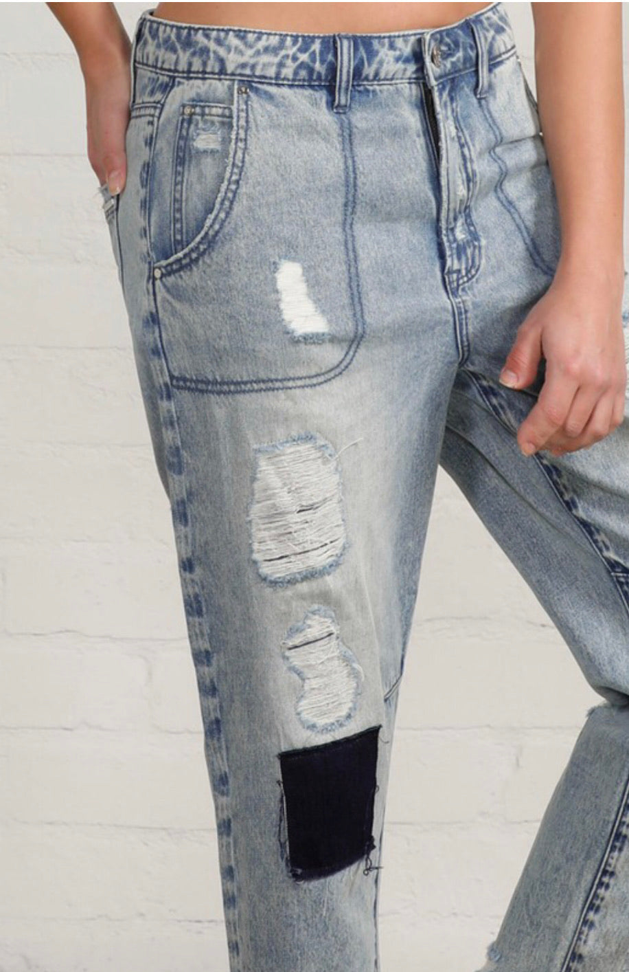 Slouch vintage patched work jeans