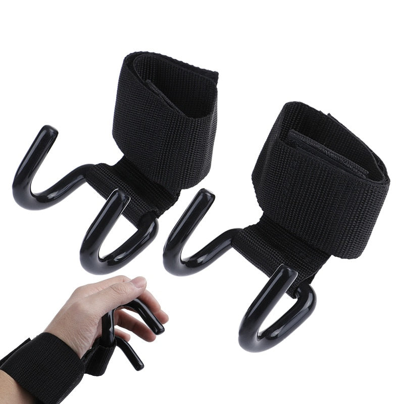 Training Gym Fitness Black Wrist Support Straps