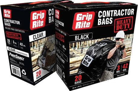 GRIP RITE 3 MIL HD CONTRACTOR TRASH BAGS