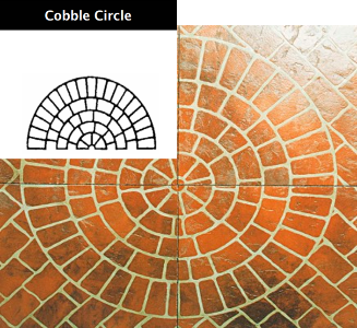 ARTCRETE SMALL COBBLE CIRCLE STENCIL
