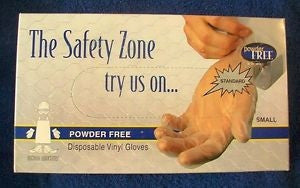 SAFETY ZONE GVP9-1C VINYL DISPOSABLE GLOVES
