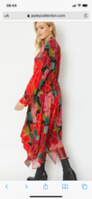 Load image into Gallery viewer, Silk blend maxi shirt dress