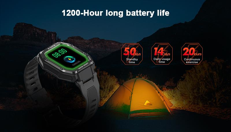 1200-hour long battery life