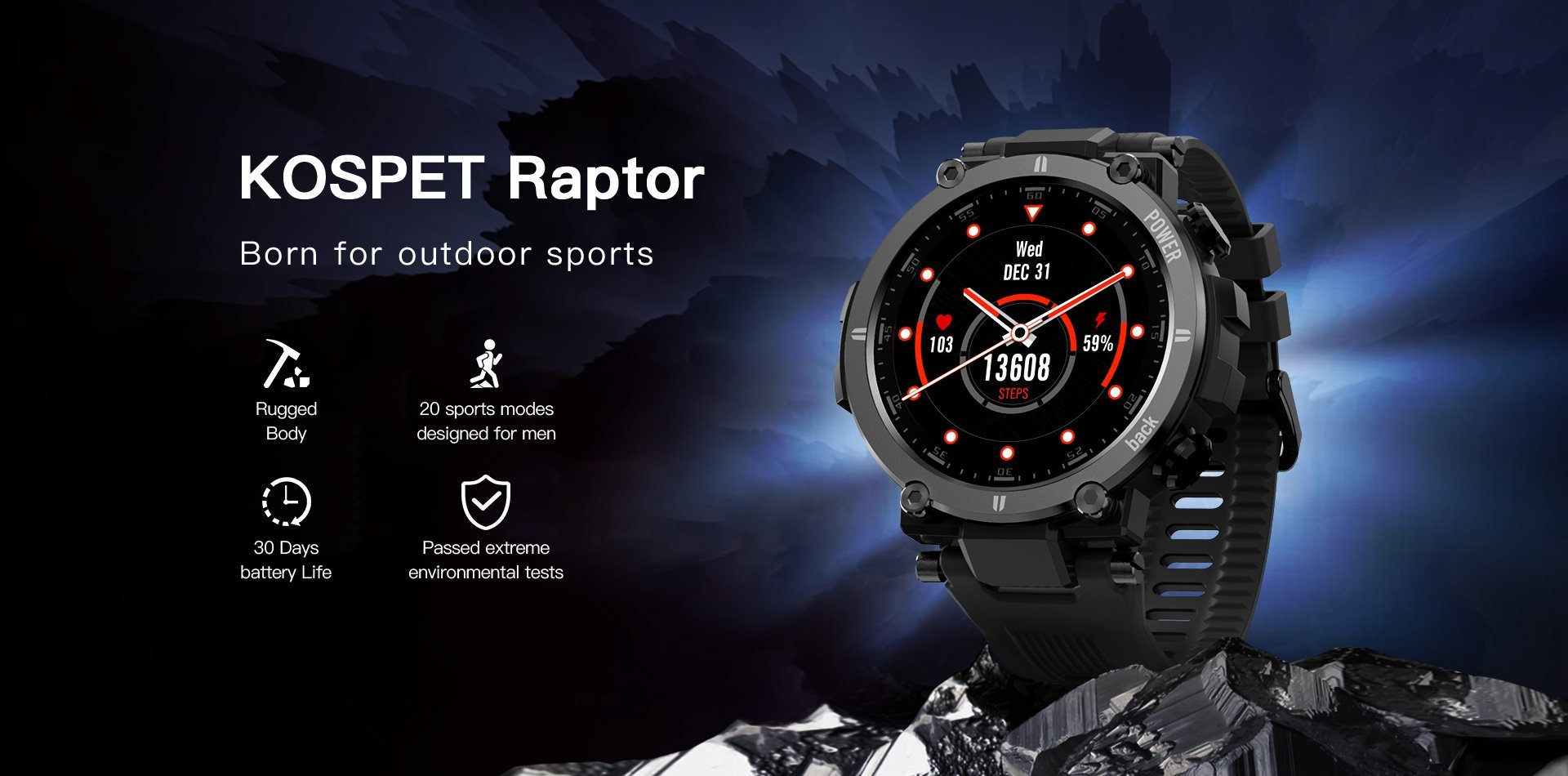 smartwatch Born for outdoor sports