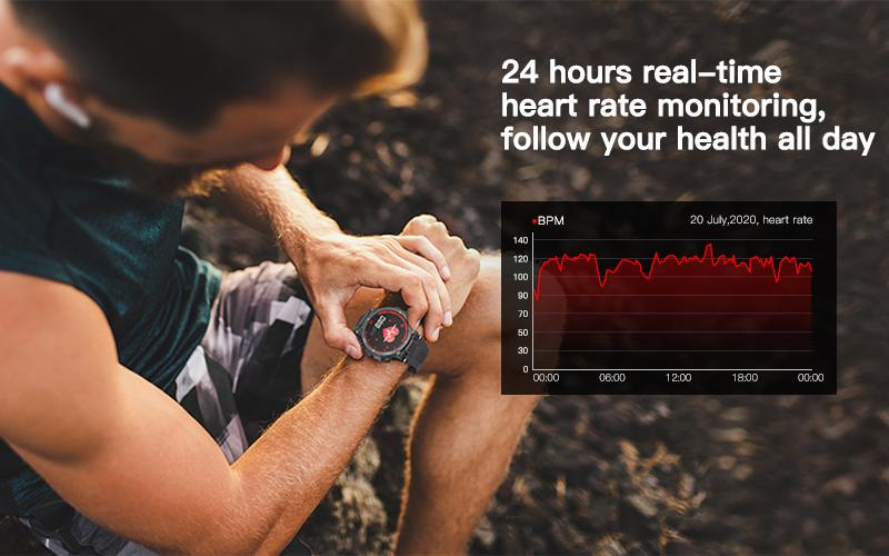 24-hour non-stop heart rate monitoring