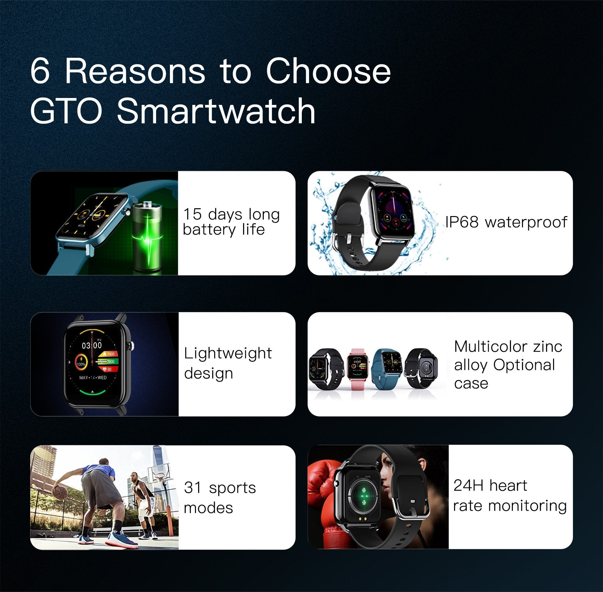 6 reasons to choose GTO Smartwatch