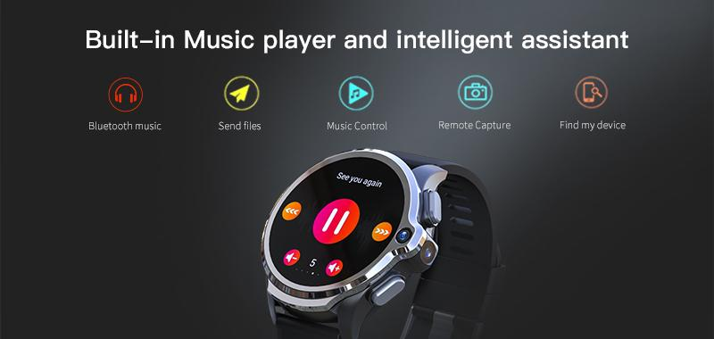 built-in music player and intelligent assistant