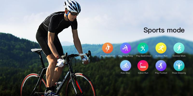 Built-in 9 professional sports modes,