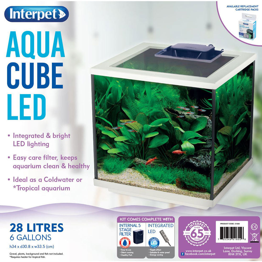 Interpet Aqua Cube LED 28L