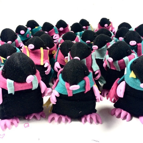 Twrch - handcrafted festive moles