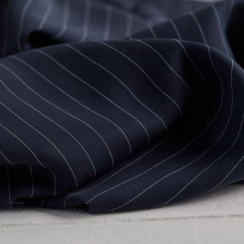 tencel navy stripe