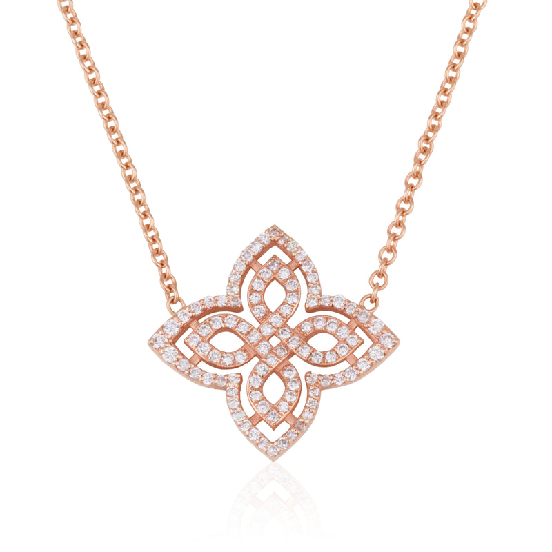 Infinity flower necklace