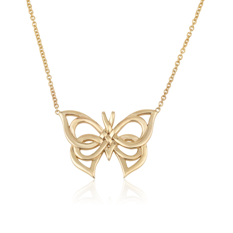 Butterfly Art Deco inspired necklace