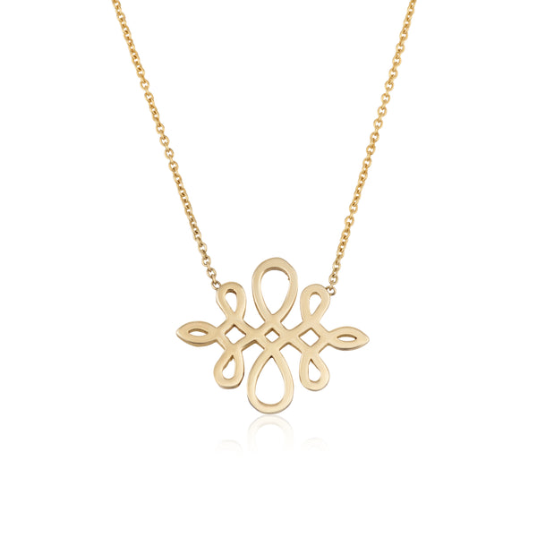 Infinity love | Yellow gold necklace