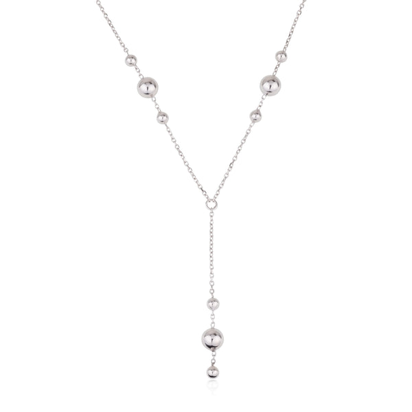 White gold balls necklace