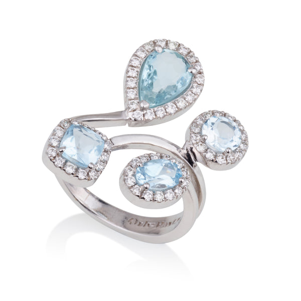 Royal four stone open ring
