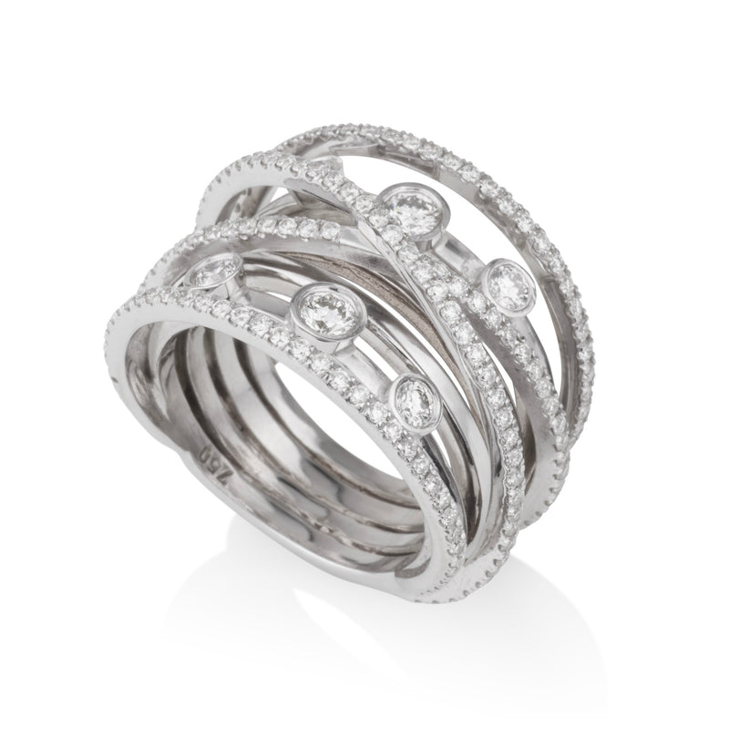Imperial elegance multi bands and diamond rings